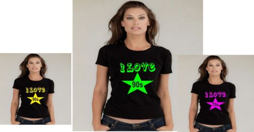 I LOVE THE 60s.70s 80s.90s normal baggy fit star T SHIRT  SMALL TO 3xl