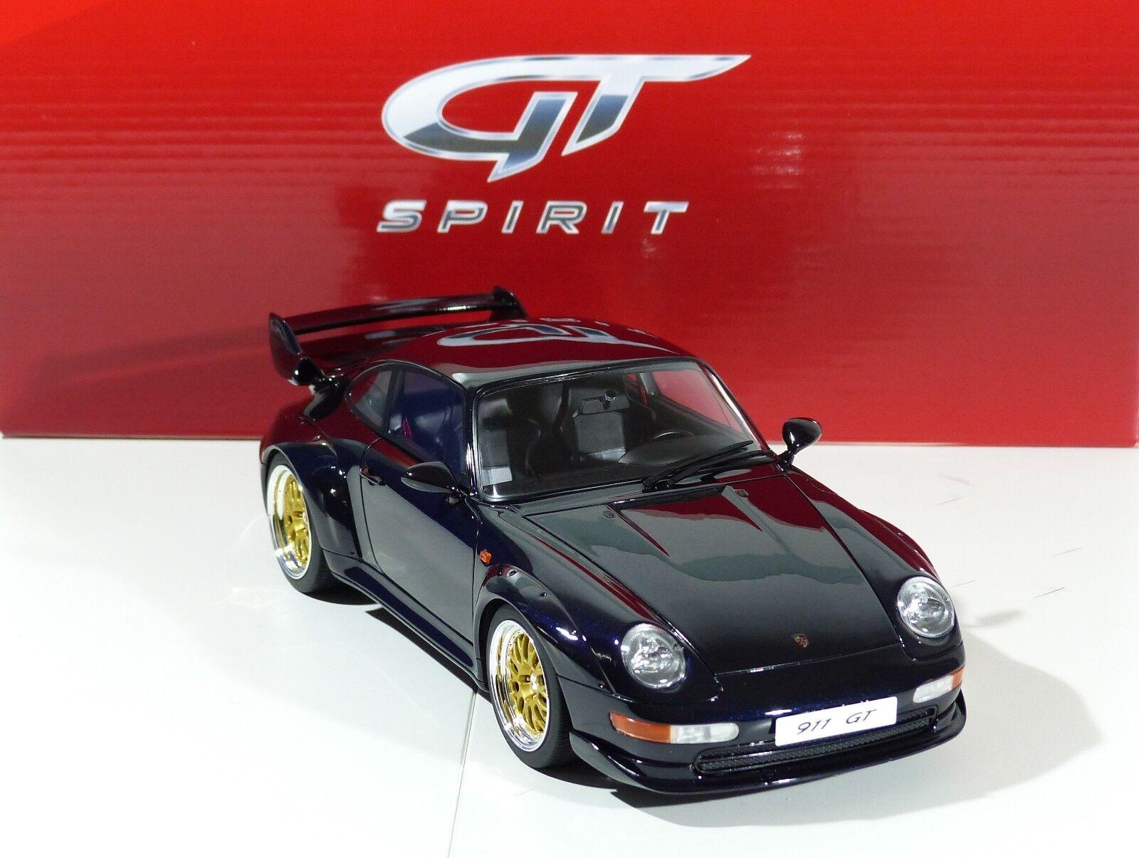 Porsche 911 (993) GT Dark-bleu année modèle 1995 gt144 gt144 gt144 GT SPIRIT 1 18 NEUF f3c43c