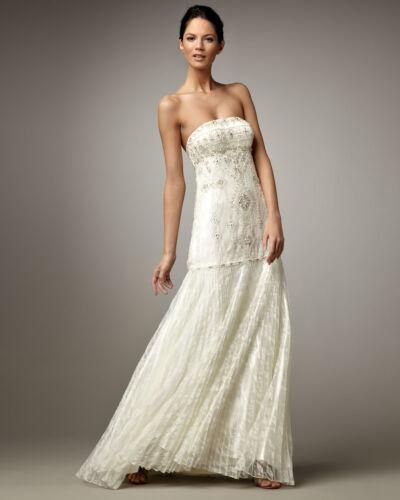jurk met kralen rok verfraaid geplooid Strapless trouwjurk Hot Wong Sue kant OuPiTkXZ