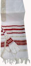 Tallit Red & Gold Jewish Talit Prayer Shawl NEW Made in Israel 68' x 47'