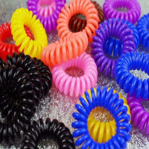 Mode Mädchen elastische Gummi Haargummis Band Seil Pferdeschwanz Halter X