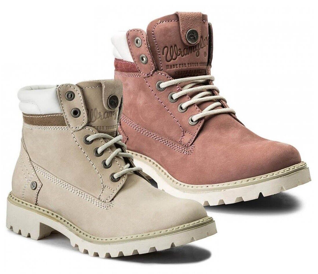 Wrangler Stiefel Creek WL172500 Schuhe Stiefel Stiefel Wrangler Militärschuhe Frau Haut Gämse 7f6e44