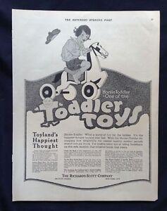 1919-Lot-3-Vintage-Magazine-Ads-Horsie-Toddler-Toys-Richards-Scott-Co