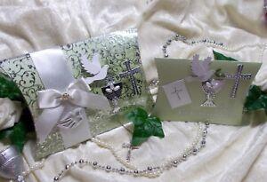 """Geldgeschenk Box Geschenkbox mit ENGEL /"""" ZUR KOMMUNION /"""" Weiß Rosa Gold NEU"""