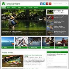 FISHING professional WordPress website w/Amazon store - FREE DOMAIN