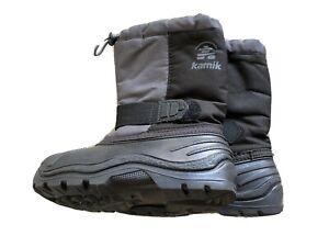 NEW Kamik Rocket Kids Unisex Snow Boots Black Size 12 Removable Liners