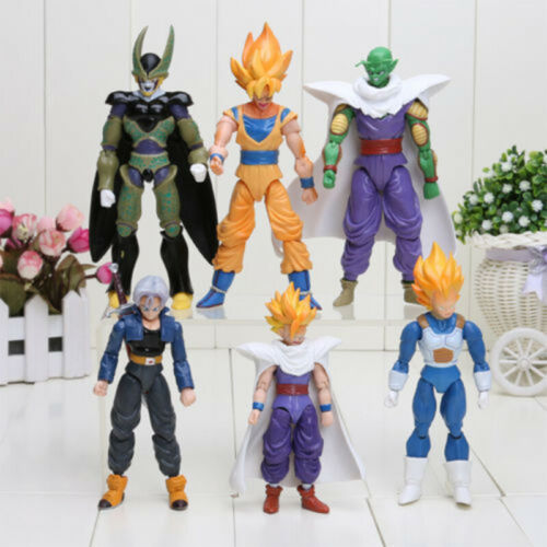 6Pcs Dragonball Z Dragon ball DBZ Goku Piccolo Aktion Figur Spielzeug Set Anime