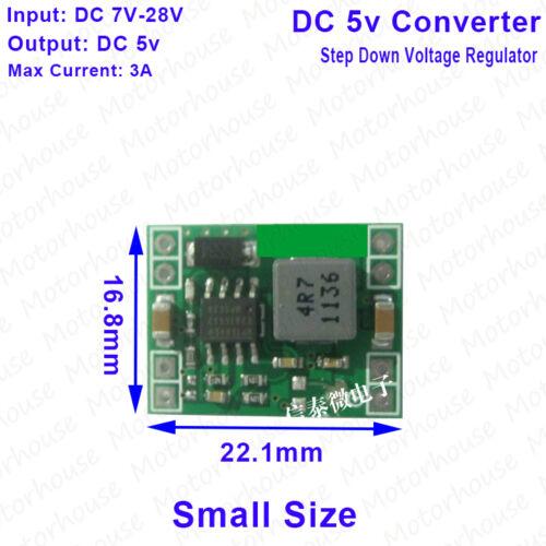 DC-DC Buck Step Down Volt Converter 7v~28v 12v 24v to 5v 3A Power Supply Module
