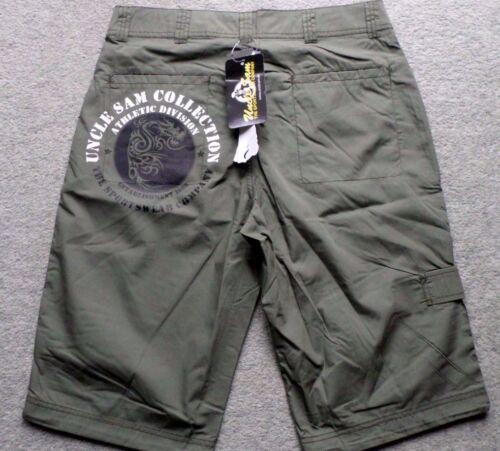 M 46//48 NEU Uncle Sam Herren Skaterhose Bermuda Shorts kurze Hose Khaki  Gr