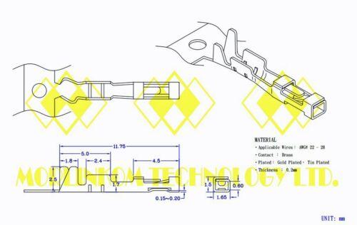 100pc Dupont 2.54 mm PIN fil 24AWG 1007 UL CSA L = 45 cm color = NOIR ~ Blanc