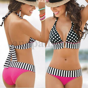 Women-Bikini-Bandage-Swimwear-Bandeau-Push-Up-Padded-Bra-Swimsuit-Beachwear