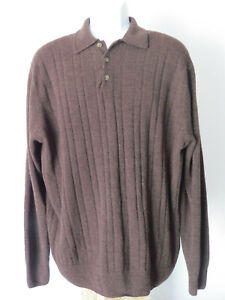 vtg-BROWN-GEOFFREY-BEENE-Men-039-s-SWEATER-long-sleeve-sleeved-90s-xL-extra-large