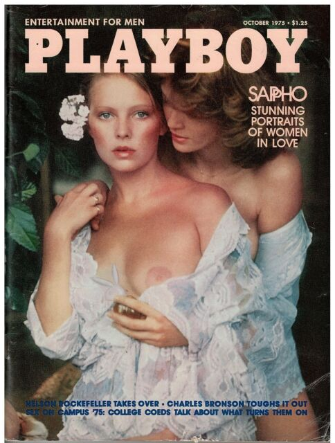 October 1975 issue of Playboy Sappho Women in Love