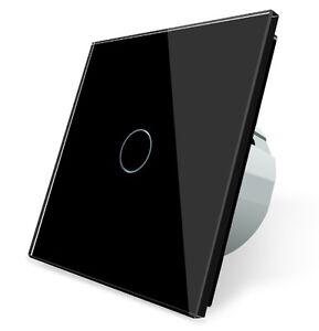 taster t rklingel glas touch lichtschalter ein aus vlc701b 12 livolo schwarz ebay. Black Bedroom Furniture Sets. Home Design Ideas