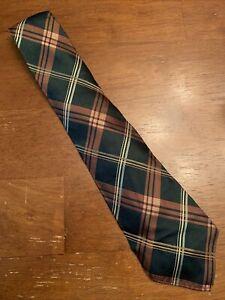 Vtg-1920s-30s-resilient-Dark-Green-Copper-Argyle-Silk-Swing-Tie-Gatsby-47-3-5