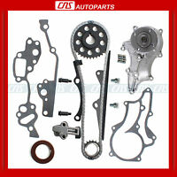 Toyota 22re Timing Chain Kit+water Pump W/ Hd Steel Guide Rail 85-95 2.4l 22r on Sale