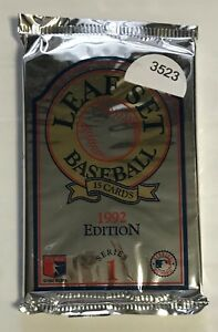 1992 Leaf Set Baseball Series 1 15 Card With Rookies Unopened