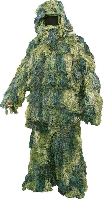 Woodland Ghillie Suit  Camo Shooting Surveillance Sniper