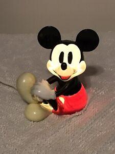 Vintage-Disney-Mickey-Mouse-Schmid-Nightlight-Light-Lamp-Porcelain-Electric