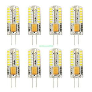 8x g4 warm wei e led kristall mais birnen 48 3014 smd silikon lampe 12v ac dc 5w ebay. Black Bedroom Furniture Sets. Home Design Ideas