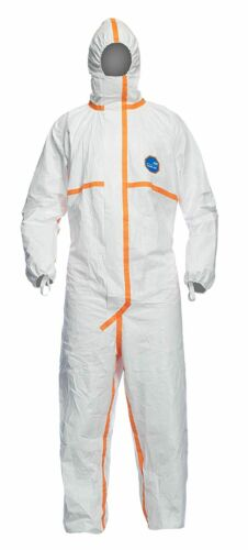 DuPont 800J TJ198T Tyvek Cat III Chemical Protective Coverall Suit 1 SUIT 2X