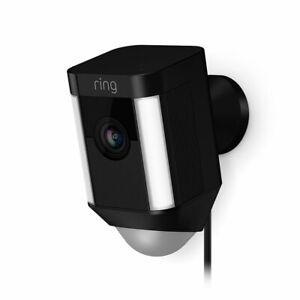 Ring-Spotlight-Cam-Wired-Security-Camera-Black-8SH1P7-BEN0-Brand-New