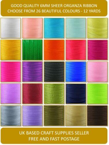Cut Length 6mm Woven Edge Sheer Organza Chiffon Ribbon Buy 3 Get 3 Free