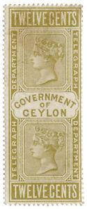 I-B-Ceylon-Telegraphs-12c-Yellow-Brown