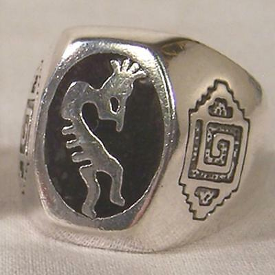 DELUXE KOKOPELLI SYMBOL BIKERS RING #104R Fashion mens womens new unisex WOLVES