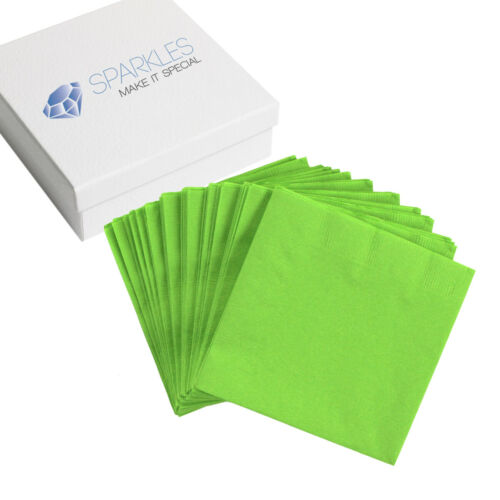 Cocktail Drink Party Wedding Reception 29 Colors 50 2-Ply Paper Napkins