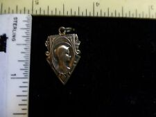 Vintage Sterling Silver Mary & Christ Catholic Religious Medal Pendant