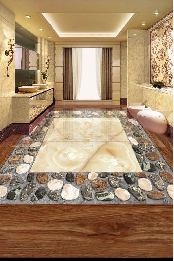 3D Fashion Marble Stone 83 Floor WallPaper Murals Wall Print Decal AJ WALLPAPER