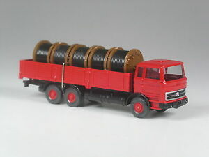 TOP-Wiking-Sondermodell-Mercedes-2223-Kabelrollen-Transport-rot