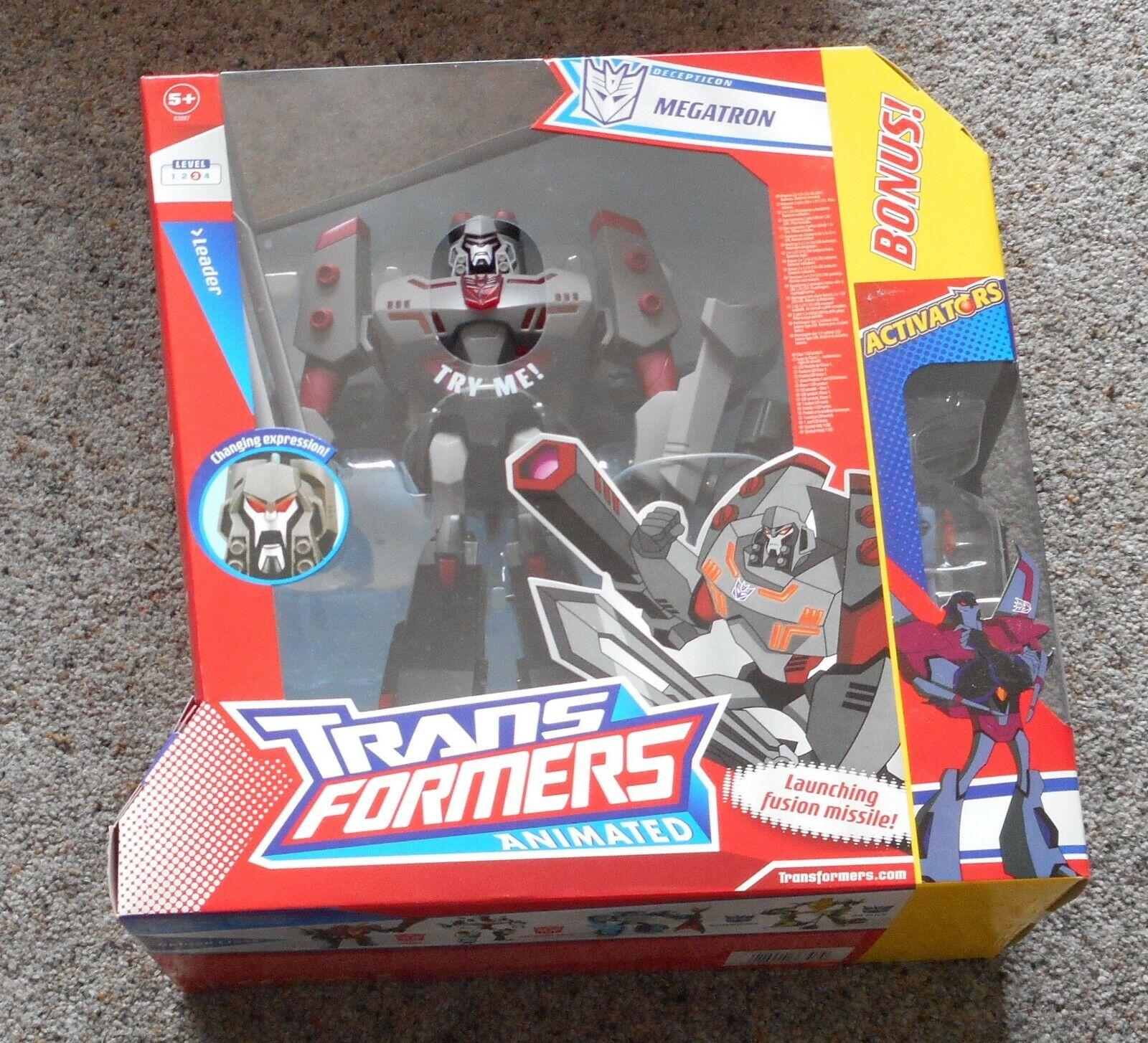 Megatron  LEADER Hasbro Transformers ANIMATED +  estrellaSCREAM  Nuovo di zecca SIGILLATO