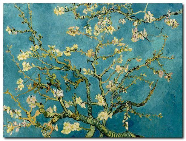 Quadro Vincent Van Gogh 'Mandorlo in fiore' Stampa su Tela Canvas