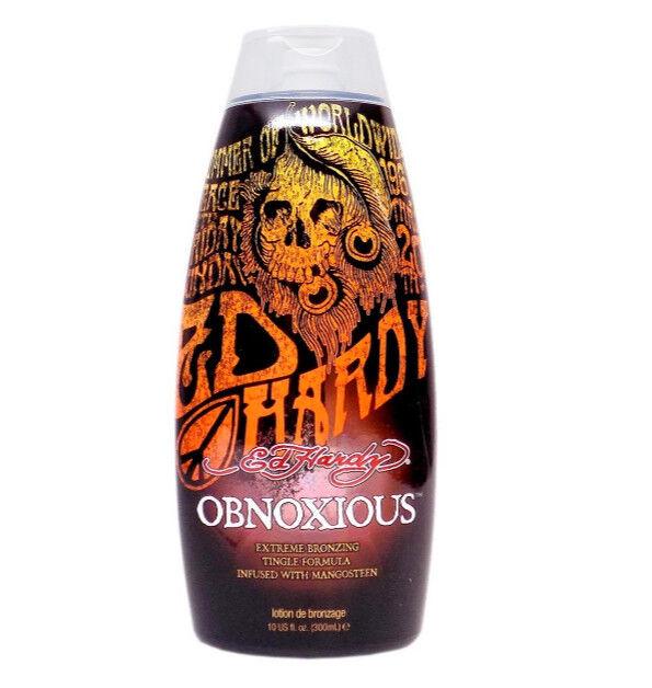 Ed Hardy OBNOXIOUS Extreme Bronzer Tingle Tanning Lotion 10 oz