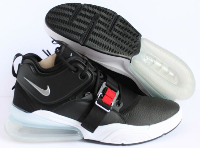 82d6a3eb0bac Nike Air Force 270 Ah6772-001 Black Silver White Size 10.5 for sale ...
