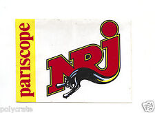 Autocollant Sticker Pub - Radio FM NRJ Pariscope an. 80