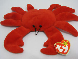 DIGGER the CRAB - RED VERSION-TY BEANIE BABY Date of birth  8-23-95 ... fc77fc90d9c