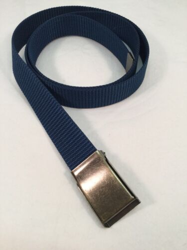 "New 1.25/"" X 48/"" Men/'s Navy Blue Nylon Fabric Web Belt Made in the USA"