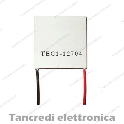 CELLA DI PELTIER 12V 4A 61W TEC1-12704 CPU COOLER CALDO FREDDO FRIGO PER ARDUINO
