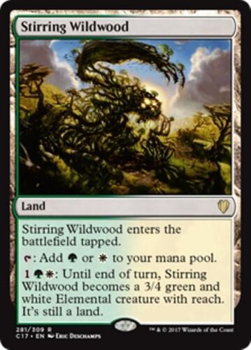 STIRRING WILDWOOD Commander 2017 MTG Land Rare