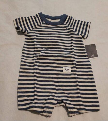 NWT Baby Gap Blue Striped Shorty Romper One Piece