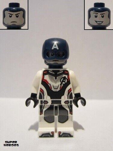 White Jumpsuit Lego Figure Captain America Helmet sh560