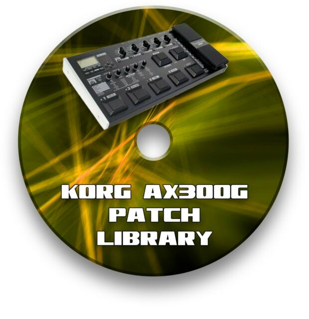 KORG AX3000G TONE PATCH LIBRARY GUITAR EFFECTS PEDALS CD