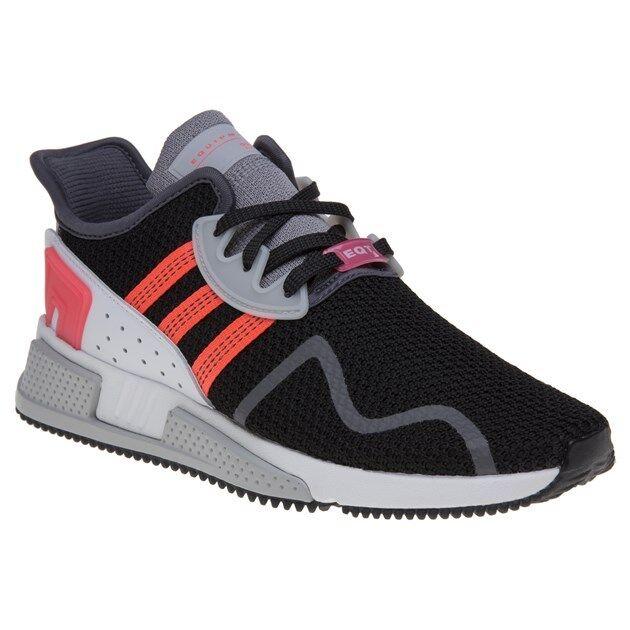 Nuevo Negro Para Hombre Adidas EQT Cojín ADV Nylon Negro Nuevo Estilo Zapatillas Correr Con Cordones 161263