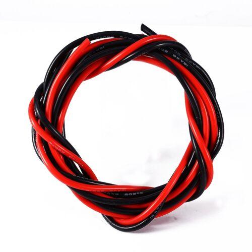 Le Fil De Cuivre Fil Électronique En Silicone 12 AWG noir 2.5M + Rouge 2.5M