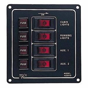 Aluminum Vertical 4 Gang Switch Panel