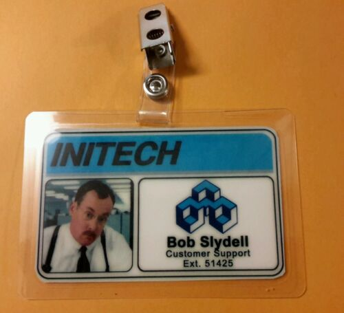 Initech Bob Slydell costume prop cosplay Office Space  ID Badge