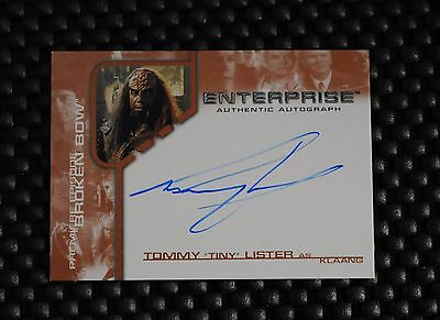 James Bond Trading Cards Special Section Star Trek Enterprise Premiere Tommy Lister As Klingon Klaang Autograph Card Ture 100% Guarantee Non-sport Trading Cards